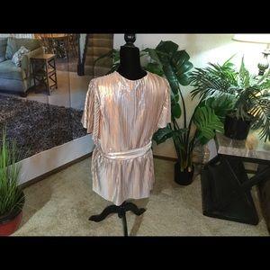 Dressy Belted Peplum Top metallic 18/20